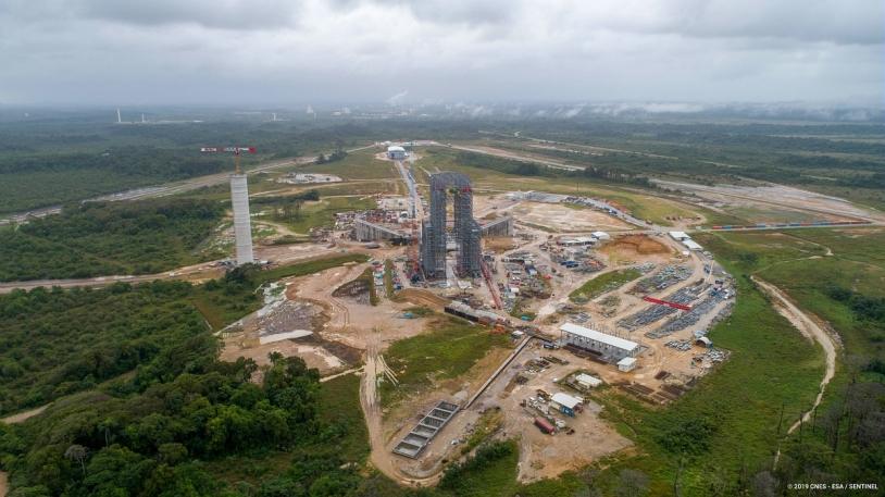 Le chantier du pas de tir d'Ariane 6